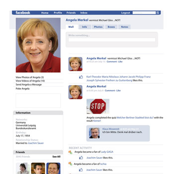 Angela Merkel on Facebook