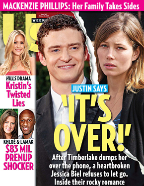 Jessica Biel and Justin Timberlake: Split!